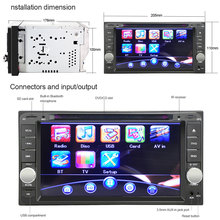 7'' Double Din Video Player for Toyota Car DVD Stereo Radio Video Player with Digital Touch Screen Player for Toyota cars