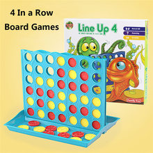 NEW Fuuny Entertainment Board Game Connect Four 4 In A Row Board Game Family Travel Educational Game Kids Toy Gift(China)