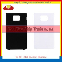 10Pcs/lot High Quality For Samsung Galaxy S2 i9100 Chassis Housing Rear Back Cover Case Battery Door White Black+Tracking Code