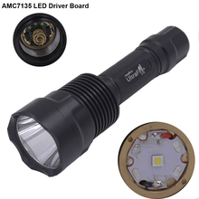 Ultra Bright C12 CREE XP-L HI V3 AMC7135 Driver High Current LED Flashlight Torch Lamp Light For Hunting Hiking Camping
