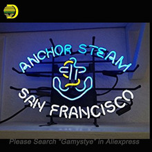 Neon Sign Anchor Steam Handmade Neon Bulb Sign Advertise Light electronic sign Real Glass Tube Neon Light signs personalized
