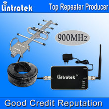 Lintratek GSM Repeater 65dBi Cell Phones 900MHz GSM Cellular Signal Booster 900mhz Yagi Antenna Amplifier Full Kit Hot Sell *