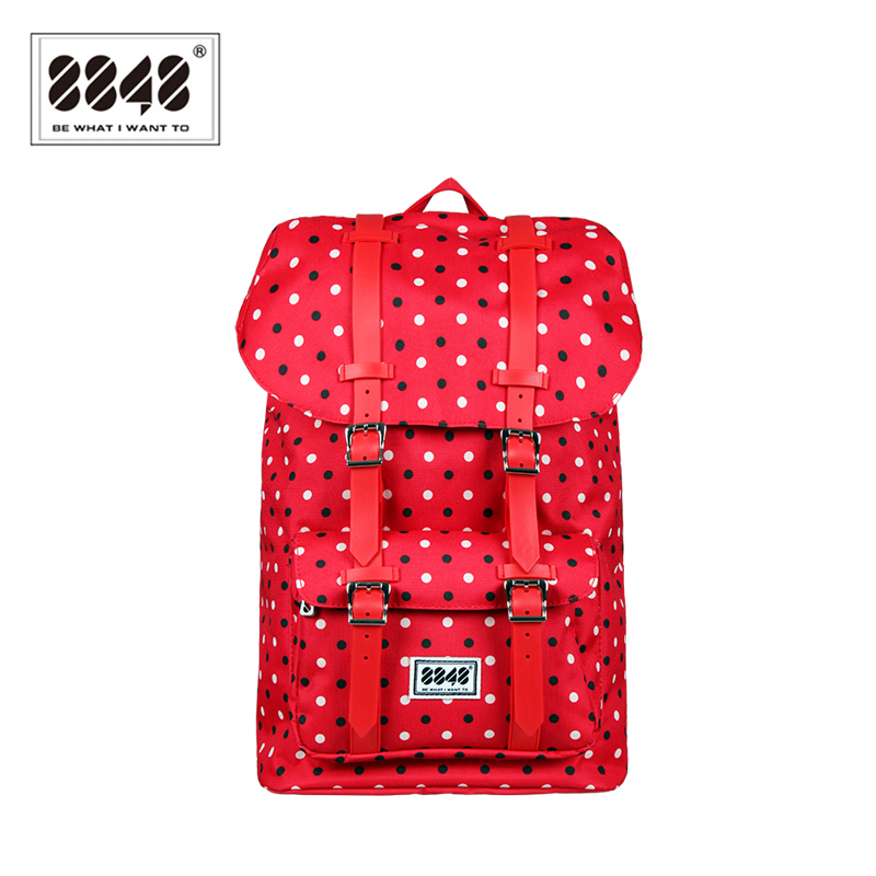 Women s Backpack Red Dot Big Bags High Quality 500 D Waterproof Oxford Resistant Laptop 100% Polyester Trendy Knapsack S15020-3<br>