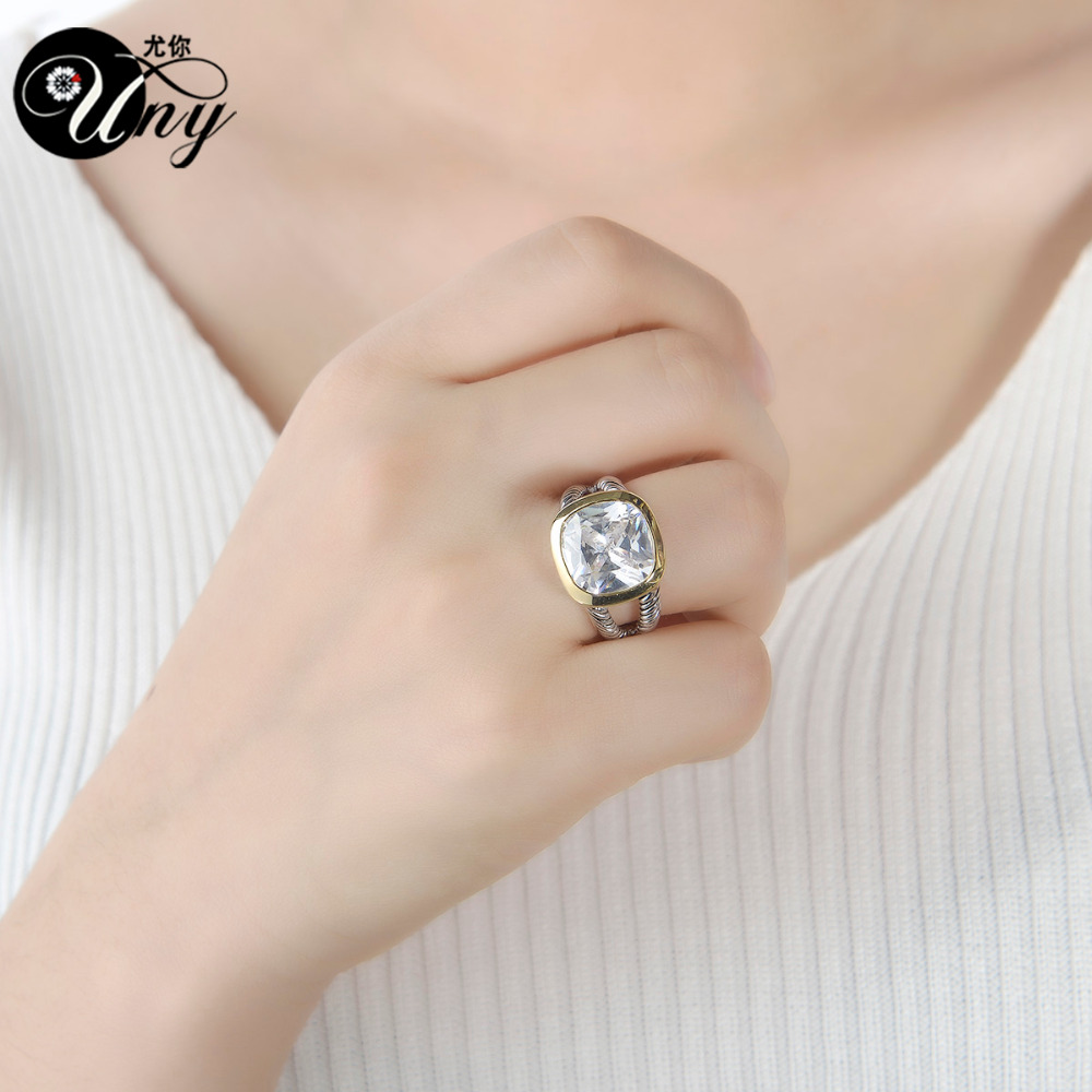 UNY Ring Twisted Cable Wire Rings Designer Fshion Brand David Vintage Love Antique Ring Women Jewelry Vintage Antique Gift Rings