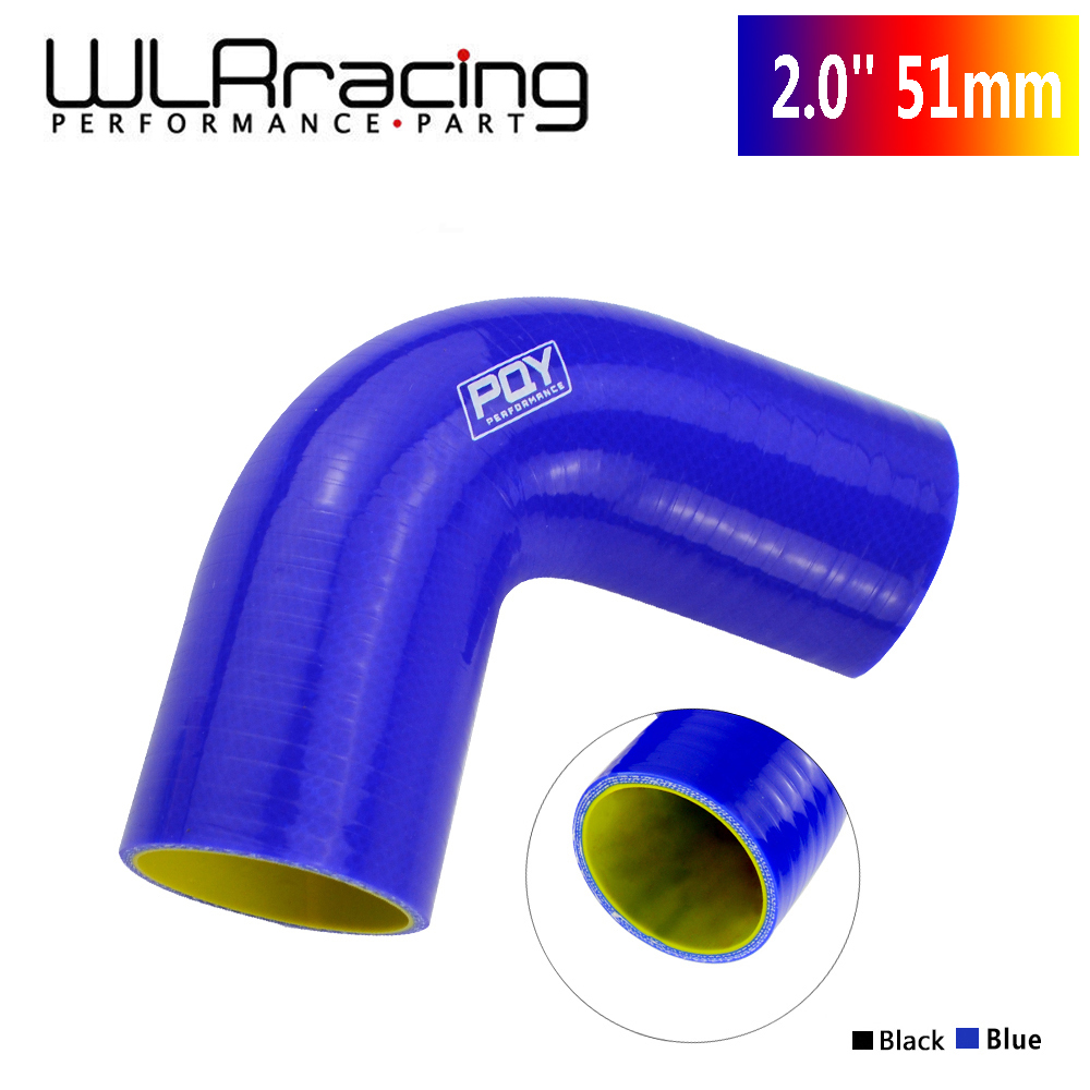 """2.5/"""" Silicone Hose//Intake//Intercooler Pipe Elbow Coupler BLUE For Volkswagen"""