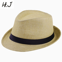Summer Style Child Sun hat Beach Sunhat Fedora hat Trilby Straw panama Hat boy girl Gangster Cap Fit For Kids Children Women Men(China)