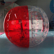 1.0mm PVC inflatable soccer bubble ball high quality human size hamster ball lows price inflatable zorb ball with free air pump(China)