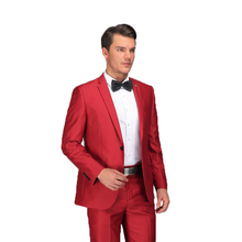 Red Suit 2017 Latest Coat Pant Designs Formal Wear Suits Set With Pants Stylish Male Slim Fit Red Costume Prom Wedding Dress(China)