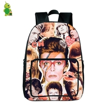 Rock David Bowie Overlay Backpack Young Women Men Fans Daily Backpack Hip Hop School Bags for Teenage Girls Boys Travel Backpack(China)
