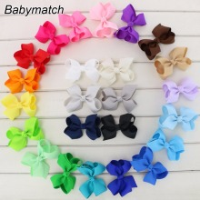 Babymatch 100pcs/lot 3.3'' Grosgrain Ribbon Hair Bows WITHOUT Clips Hair Organizer For Girls' Hair Accessories Free Shipping