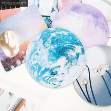 Office Desk Mat White Moon Office Desk Accessories Set Office Desk Organizer School Supplies High Quality Mouse Desk Tools(China)