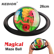 Maze Ball Puzzle Game 3D Magic Intellect Puzzles for Children Balance Labyrinth Marble Run Educational Toys IQ Logic Games(China)