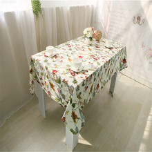 High Quality Table Cloth White Flower Pattern Cotton Tablecloth Table Cloths Dining Table Cover Desk Towels Home Textile