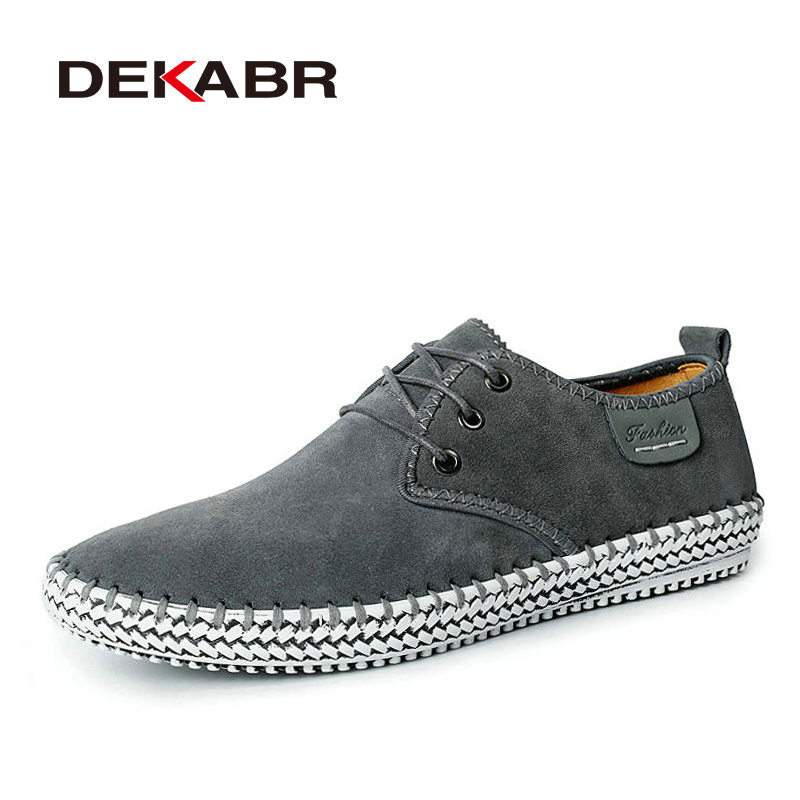 Suede Cow Leather Men Casual Shoes Breathable Flats Men Fashion Genuine Leather Shoes Solid Men Driving Shoes Zapatos Hombre<br>