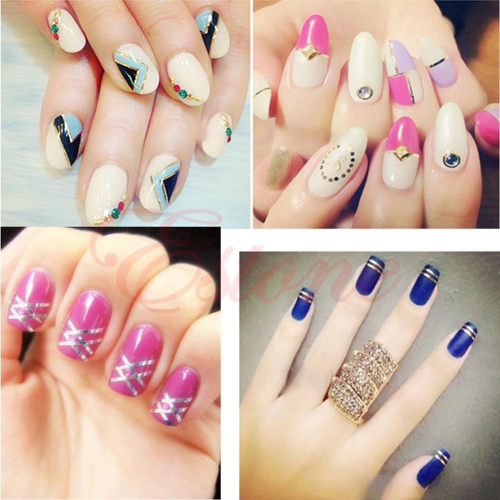 Nail Art Ideas » Nail Art Strip Tape - Pictures of Nail Art Design Ideas