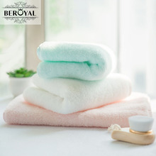 Beroyal Brand Super Soft Hand Towel - 3PC 33*75cm 100% Cotton Face Cloth Solid Cheap Towel Quick-Drying Salon Towels(China)