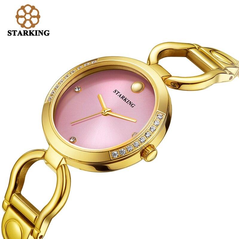 STARKING New Luxury Women Watch Famous Brand Gold Fashion Design Bracelet Watch Ladies Women Wrist Watches Damske Hodinky BL0984<br><br>Aliexpress