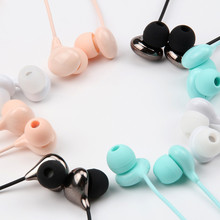 New Cute Earphone In-ear earphone Candy earphone Universal for iPhone Xiaomi Samsung Lenovo Nokia for Mp3 gift(China)