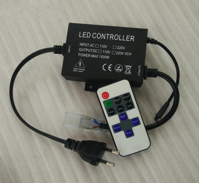 1500W 110V 220V Led dimmer controller with 11keys IR remote Single color led strip dimmer EU plug / US plug Free shipping<br><br>Aliexpress