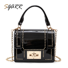 SGARR Famous Brand Women Bag Pu Leather Fashion More Color With Lock Rivet Female Hasp Chains Messenger Shoulder Bags Purse Sale(China)