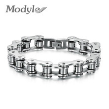 Modyle New arrival hot sale fashion vintage men's jewelry 316l titanium steel vintage Bike Bicycle Chain bracelet for men