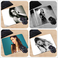 Babaite Customized Mouse Pad Ariana Grande Love Smile Photo Rubber Gamer Gaming Mouse mat for PC Computer Mouse