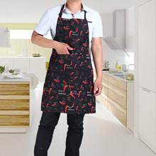 Free shipping 3PCS/PACK waterproof Waiter chef apron with pocket tablier cuisine Adjustable kitchen bib apron men YM001