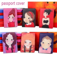 2017 Latest Style Painted characters Capa Passaporte ID Card Holder PU Leather 3D Design Passport holder Passport Cover 14*10(China)