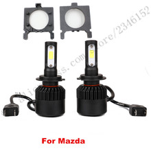 H7 led headlight head lamp kit with adapter For Ford Focus fiesta