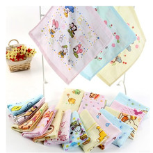 New 3pcs/lot high quality character square towel for kids face towel, children handkerchief towel(China)
