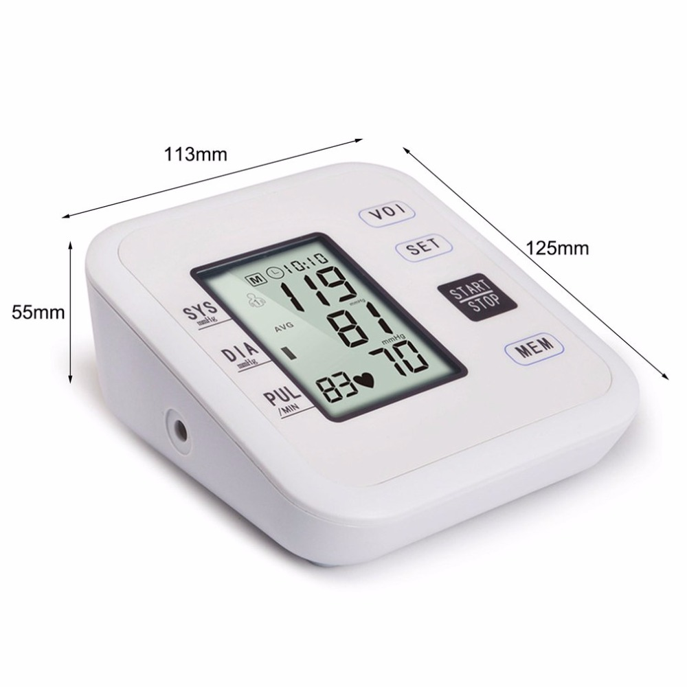Arm Type Rechargeable Voice Tonometer Smart Digital Pulse Blood Pressure Monitor Health Care Household Sphygmomanometer 16