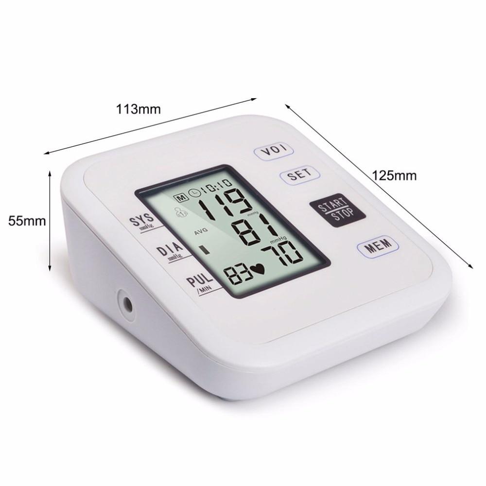 Arm Type Rechargeable Voice Tonometer Smart Digital Pulse Blood Pressure Monitor Health Care Household Sphygmomanometer 16