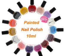 10ml Professional Nail Polish Painting Stamping Nail Varnish Beauty Gel Nail Polish Nail Art Tools . 26 Colors!(China)