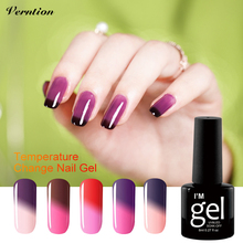 Verntion Temperature Color Changing Lucky Semi Permanent UV Nail Gel Polish Long Lasting 8ml UV Gel Chameleon Nail Varnish(China)
