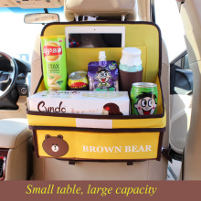 Car seat back storage bag Oxford cloth Cartoon Auto Organizers 9 colors for KIDS  to store snacks debris iPad Car Accessories