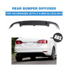 ABS Negro Mate Auto Car Rear Bumper Lip Difusor Para VW Jetta GLI 2012-2014