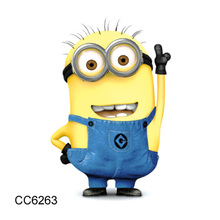 60x60mm Latest 2016 Cartoon Tattoo designs Waterproof  tattoo Body Art sticker Cartoon Despicable Me Minions Temporary Tattoo
