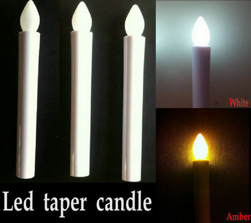 100pcslot led taper candle sticks wedding table decor flameless wax dipped candles candleabra lights17