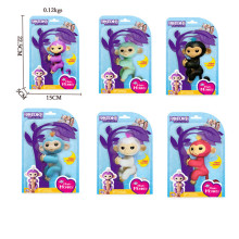6pcs /set Fingerlings monkey 6 color Glitter Monkey mini Pet shop Monkey toys Kids Christmas gifts(China)