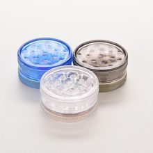 3 Layers Mini Plastic Herb Grinder For Smoke Tobacco Pollen Hand Grinding Smoking Pipe Wholesale Grinder random Color