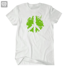2017 new world peace logo short sleeve t shirt tee tshirt women mens Green no war Anti-wars logo joggers  suit  jersey