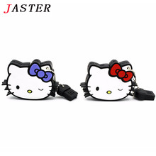 JASTER cute Hello Kitty USB Flash Drive Pendrive 4gb 8gb 16gb 32gb 64gb Flash Card Kitty Cat USB Stick Cartoon Kitty U Disk