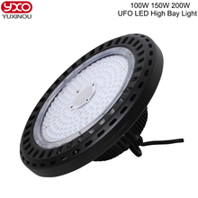 1PCS IP65 100-265V 100W 150W 200W LED Ceiling Spotlight Mining Lamp LED Industrial Lamp LED UFO High Bay Light(China)