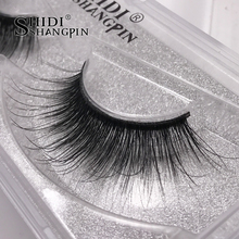 New 1 pair Netural Long False Eyelashes 3D Mink Thick Fake eyelashes Makeup Eye Lashes Extension Profession Handmade Eyelash #30(China)