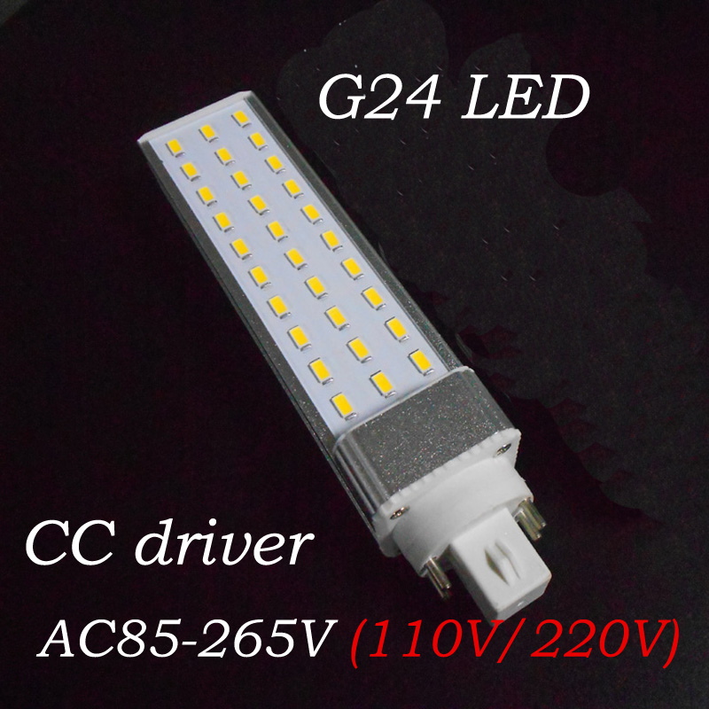 PF 0.9 4 pin g24q LED pl bulb light 12w 5730 SMD G24 LED lamp Lighting AC85~265V<br><br>Aliexpress