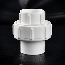High quality PVC union woggle joint Plastic tube pipe fitting straight coupling  connector DN20 3/4 inch