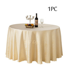 Home Textile 1PC Rose Jacquard Table linen Round Table Cloth Set for Weddings Outdoor Xmas Table Decorative Event Party Supplier