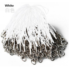 50 pcs/lot white mobile Phone Lanyard Cords Strap Lariat Mobile Lobster Clasp Mobile 0HIR camera wrist lanyard strap(China)