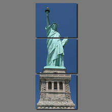 United States City 3pcs New York Building Statue of Liberty decoration canvas painting living room wall Art home decor unframed
