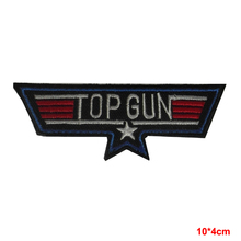 new arrive military USA NAVY TOP GUN IRON-ON EMBROIDERED PATCH BADGE LOGO